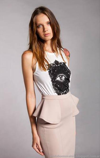 Faldas cortas invierno 2014 LA Cofradia moda polleras de invierno 2014.