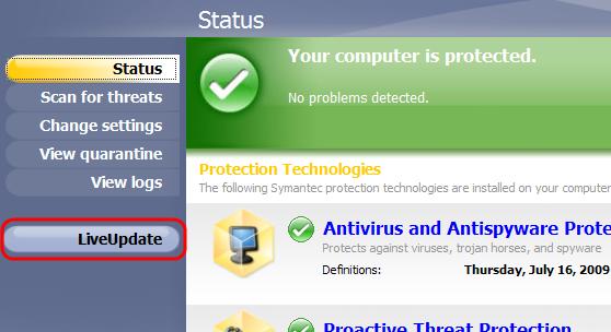 Cara Update Symantec Offline