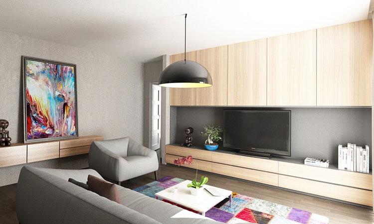 Modern Studio Apartment Warm Interior Home Design For You