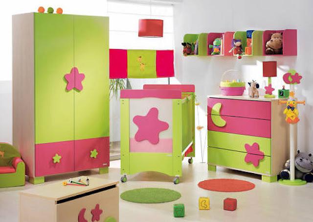 Dormitorio de bebes dormitorio de bebe color verde limon for Cuartos de ninas fucsia