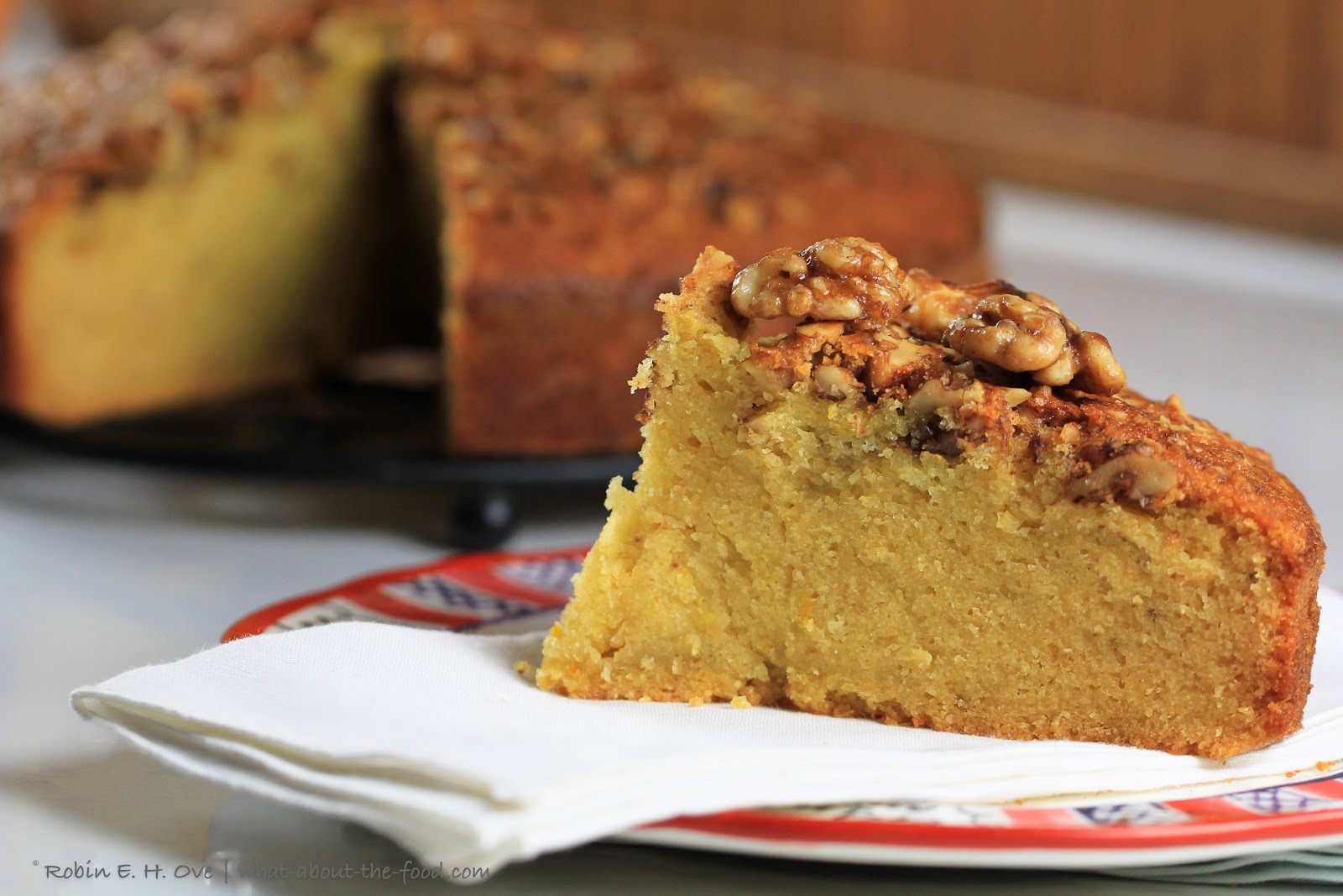 Rum Orange Olive Oil Cake with Candied Walnut Topping - What about the ...