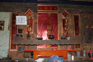 Altar inside a house of Pa Dí ethnic people in Mường Khương