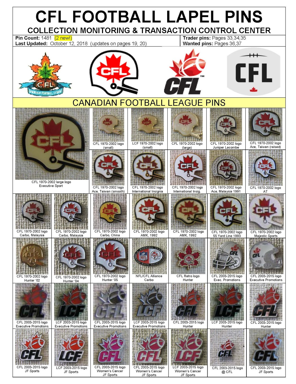 CFL Pin Collection: