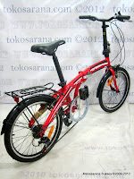 Sepeda Lipat Laux Torino Rangka Aloi 20 Inci