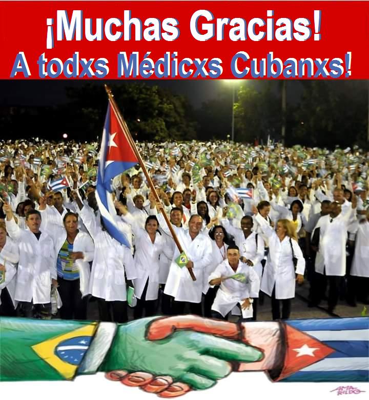 NOTA DE SOLIDARIEDADE AOS MÉDICOS CUBANOS