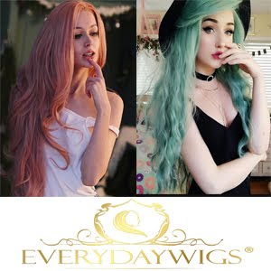 Everyday synthetic wigs