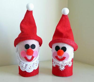 lembrancinhas de natal com reciclagem de rolo de papel higiênico