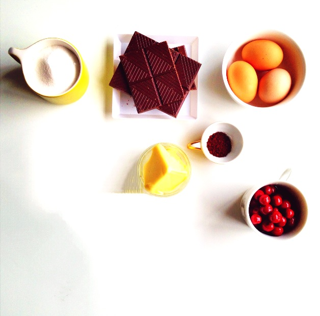 ... Happy New Year : Flourless Chocolate Chestnut Sour Cherry Truffle Cake