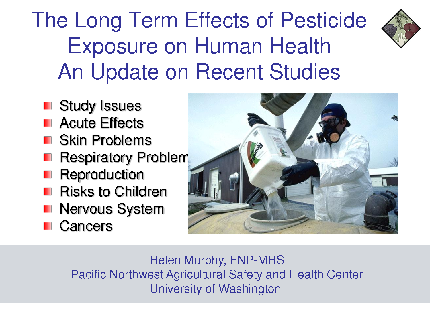 the adverse effects of chemical pesticides to human health Read chapter 5 adverse impacts of food on human health: adverse health effects also may occur as a to those associated with chemical and pesticide.