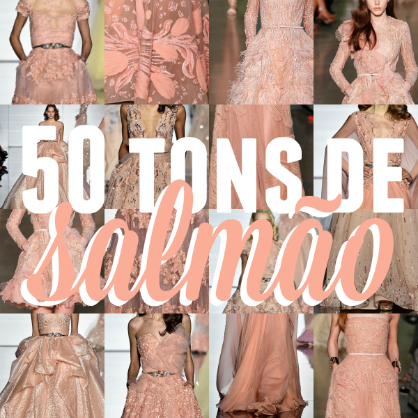 vestidos salmão
