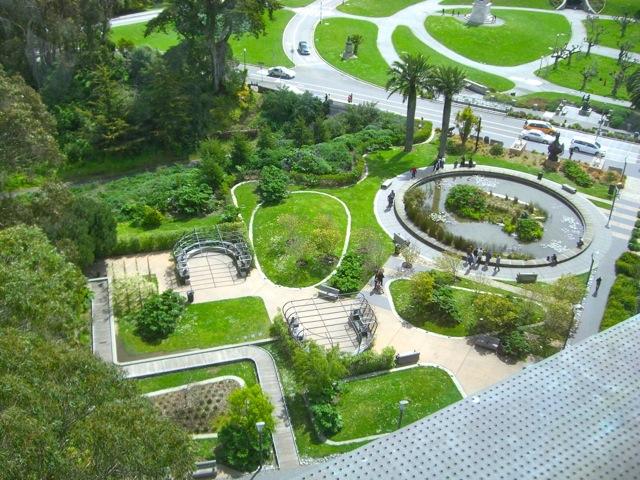 The de young museum garden in san francisco for Park landscape design