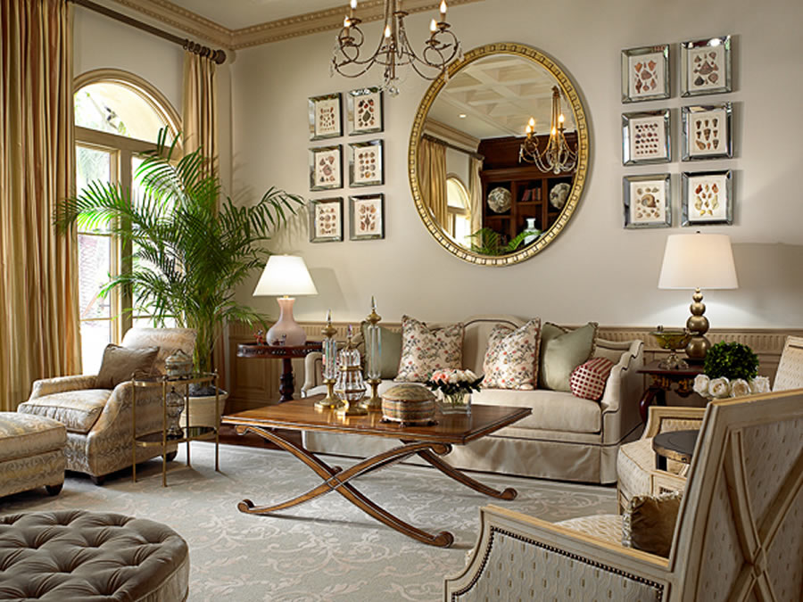 Classic Elegant Home Interior Design of Old Palm Golf Club by Rogers