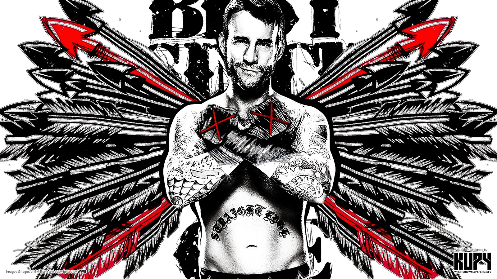 cm punk new hd wallpapers wrestling wallpapers