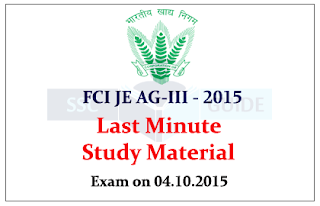 Last Minute Preparation for FCI Exam 2015