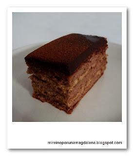 Pastel de chocolate y castañas