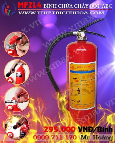 bình cứu hỏa bột abc 4kg mfzl4
