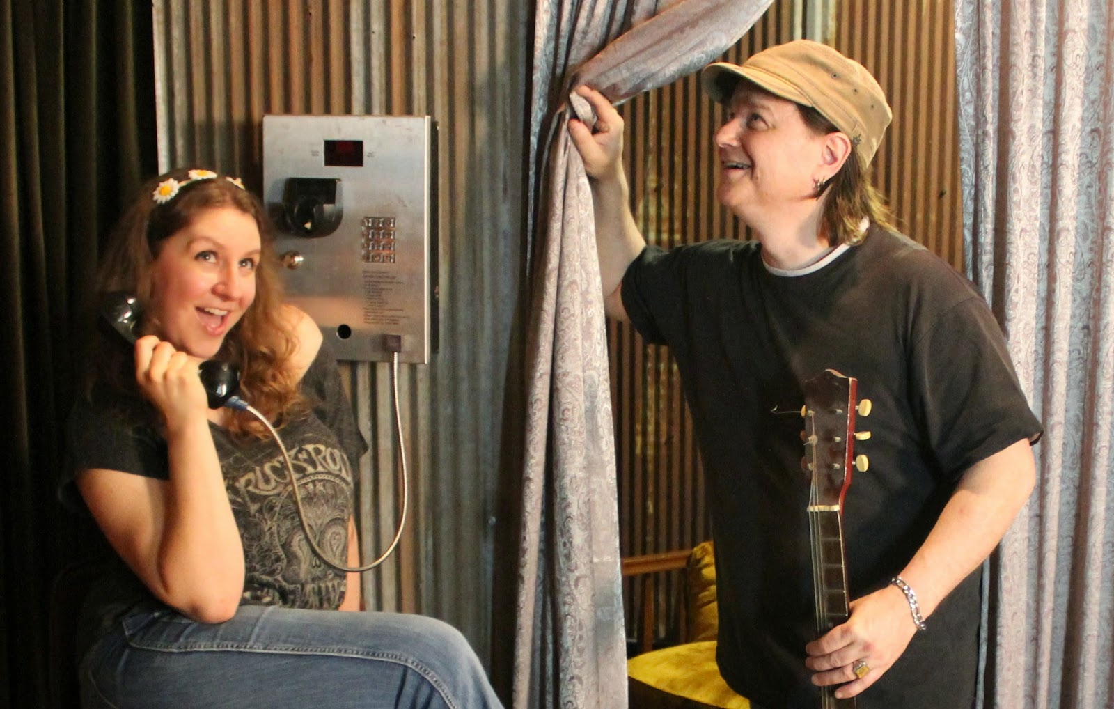 What's happening backstage at the Commune and who are these people?