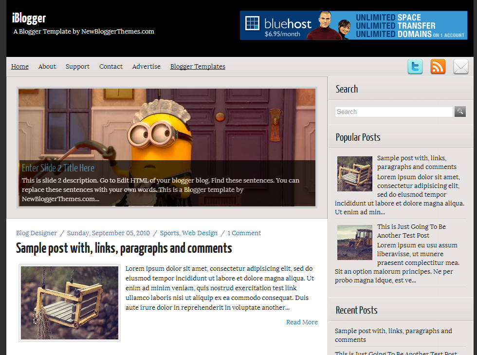 Share iBlogger Blogger Template