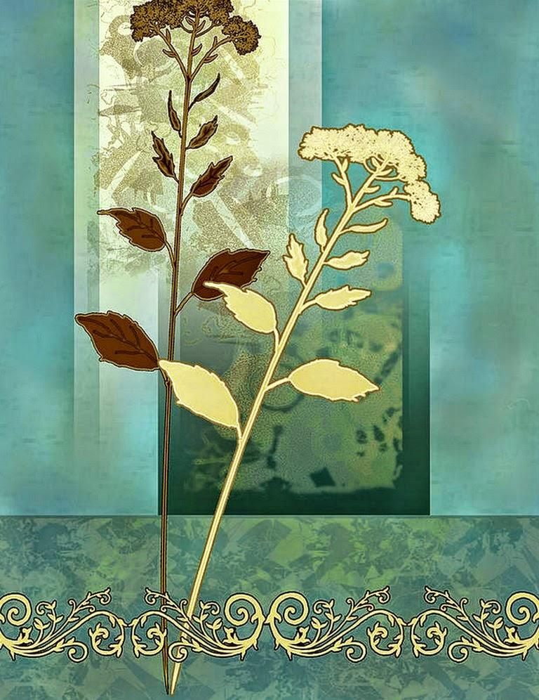 pinturas-modernas-con-mariposas-y-flores