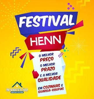 Parceria HENN e MARCELÂO MÓVEIS E ELETROS lançam o Festival Henn de cozinhas e guarda roupas....