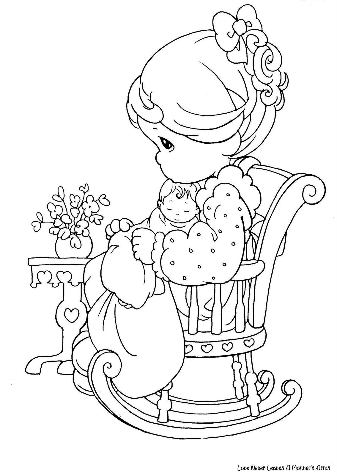 Dibujos para colorear precious moments for Coloring pages of precious moments