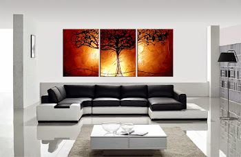 "Original Abstract Painting ""Tree of Life - Copper"" by Artist Dora Woodrum"