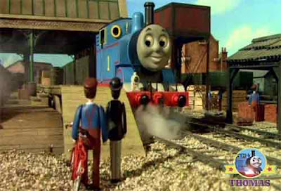 Thomas the blue train said Percival the controller my Sodor narrow gauge engines are bringing bricks