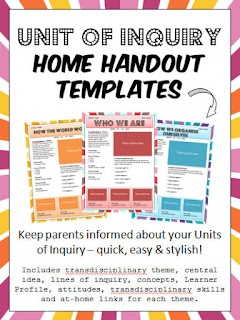 https://www.teacherspayteachers.com/Product/PYP-IB-Unit-of-Inquiry-Parent-Communication-Templates-1887532
