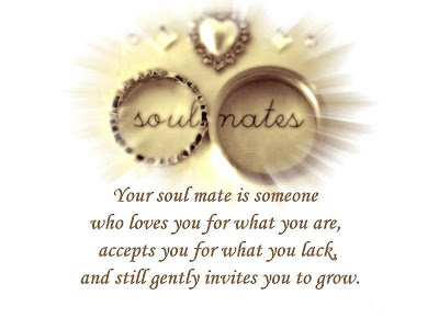Your soul mate is someone who loves you for what you are, accepts you for what you lack and still gently invites you to grow.