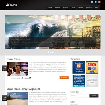 Mangos Magazine blogger template. download seo blogger template. magazine style template blogspot. download 3 column footer blogger template