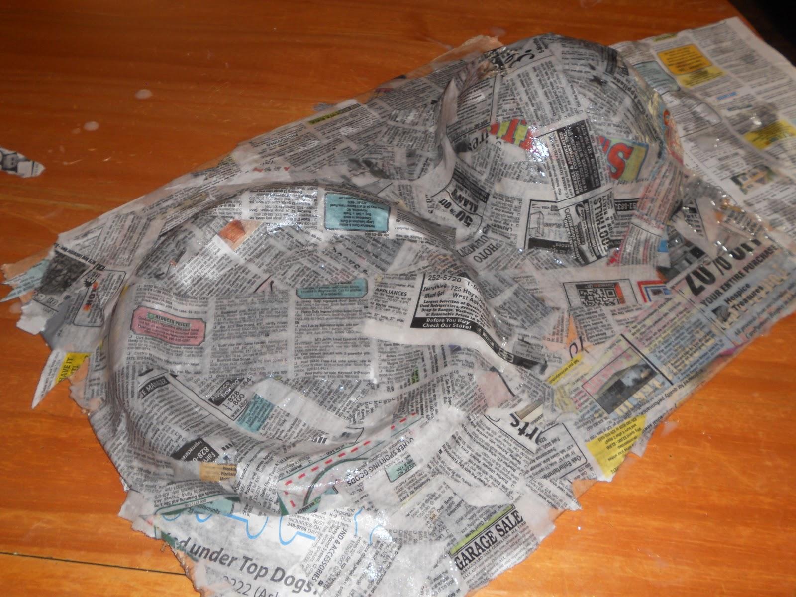 How to make a paper mache castle