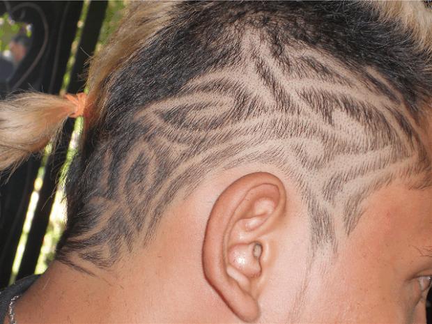 tattoo design simple hair