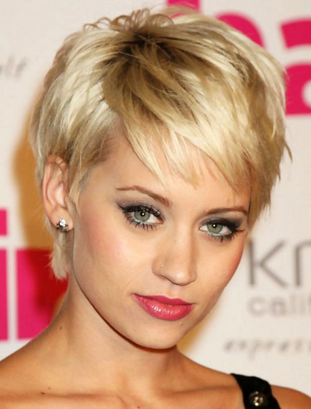 model rambut poni wajah oval kimberly wyatt