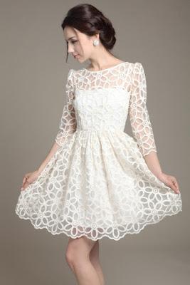 jual long dress korea ready stock