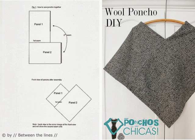 the best in internet how to make a poncho. Black Bedroom Furniture Sets. Home Design Ideas