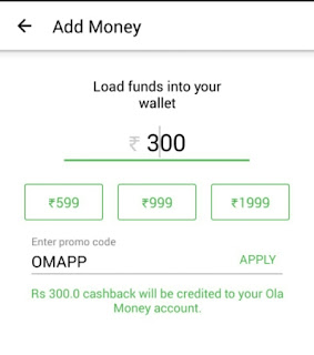 Ola money 100% cashback OMAPP