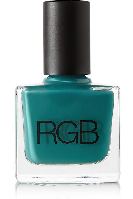 peacock nail polish, teal nail polish, RGB blue nail polish,