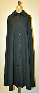 Calvin Kline vintage hooded cloak with buttons-front view