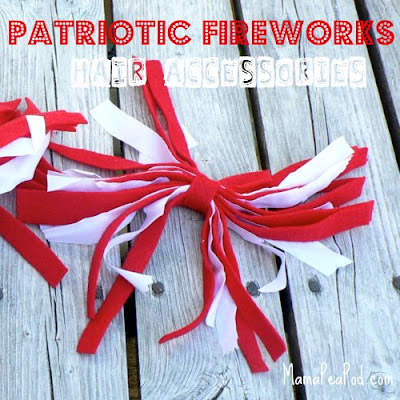 patriotic fireworks hair accessories diy