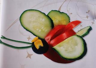 Ideas de Buffet Saludable para Navidad, Mariposa de Vegetales