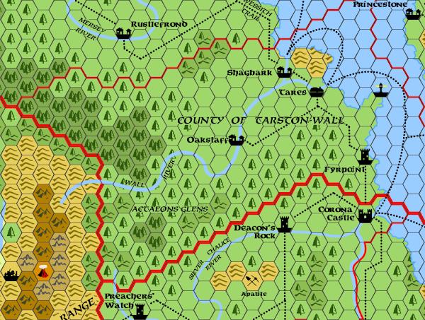Mystara Alphatia Foresthome Tarston-Wall map