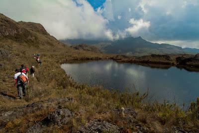 Pequeña laguna en el Parque Natural de Chingaza. Foto: Jorge Bela