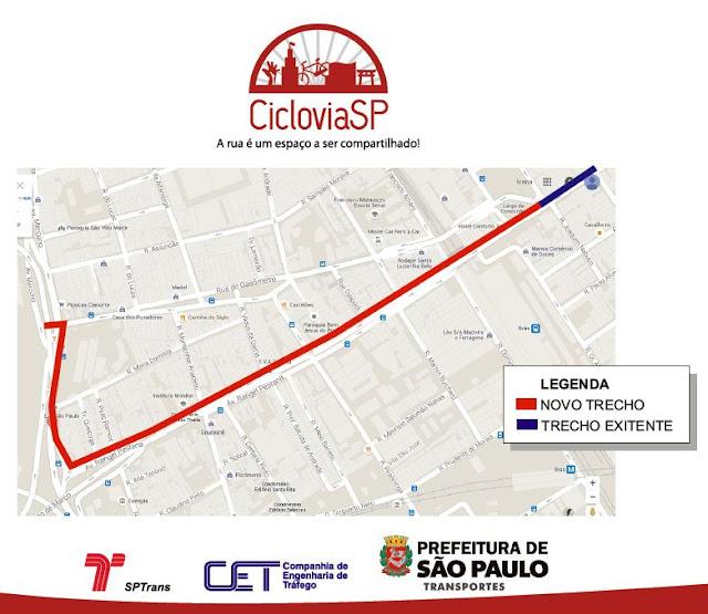 Ciclovia Avenida Rangel Pestana e Rua da Figueira