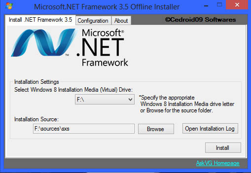 Windows 8 .Net Framework 3.5 Offline Installer