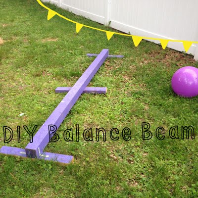 how to make your own low balance beam
