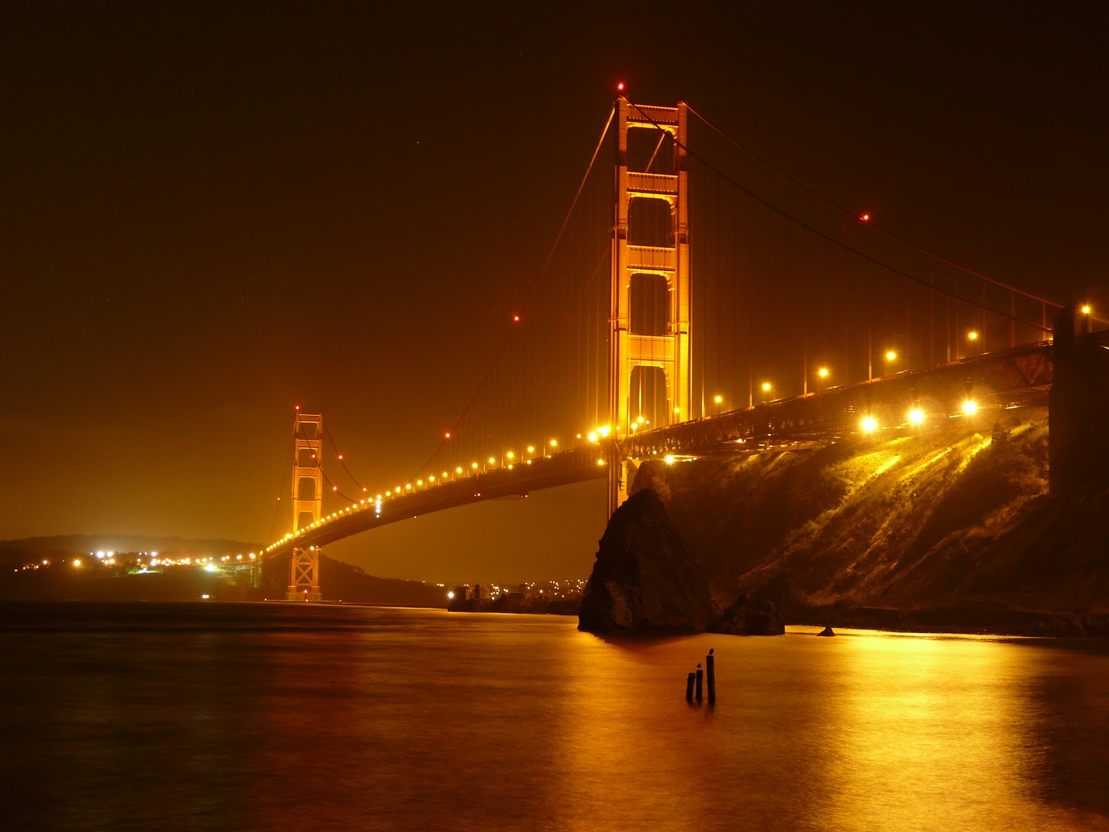 Our amazing planet earth golden gate bridge for Golden night