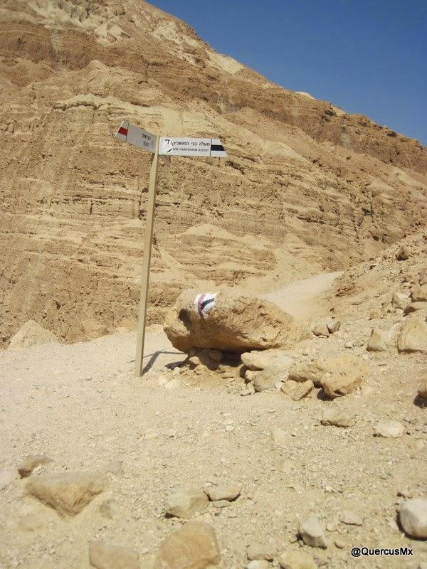 Ruta de ascenso B'nei Hamoshavim, camino de alta dificultad a la cima en Wadi Arugot