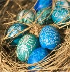 Beach . Coastal Style Easter Eggs