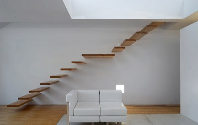 Trang House - Design of stairs inside house