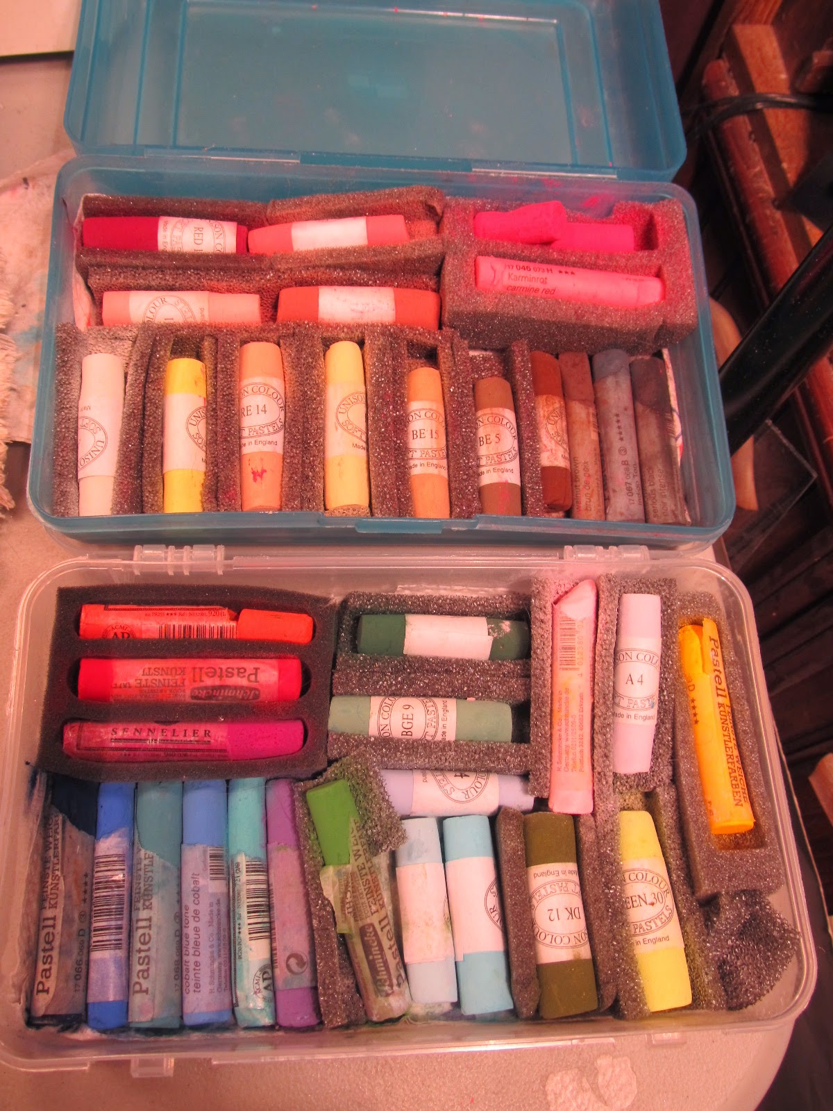 soft chalk pastels for doll faceups